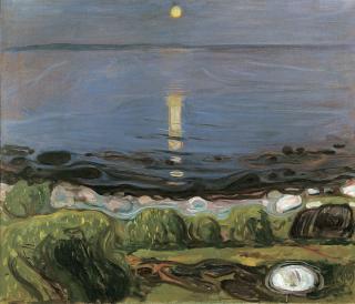 Edvard_Munch_-_Summer_night_by_the_beach_(1902-03)